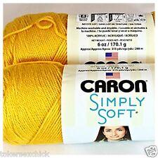 1 NEW 6 oz Skein CARON SIMPLY SOFT Yarn GOLD #9782 Medium 4 Wt 315 Yds Chemo Rec