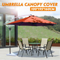 Outdoor Garden Parasol Canopy Cover Yard Patio Umbrella Fabric 100*195*160cm