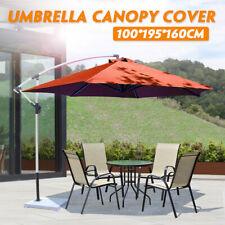 Outdoor Garden Parasol Canopy Cover Yard Patio Umbrella Fabric 100*195*160cm