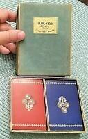 Vintage Cel-U-Tone CONGRESS Double Deck PLAYING CARDS Pearl Beads Red Blue Vtg