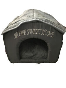 Dog Bed House Foldable Small Cat Puppy Pet Indoor Travel Portable Inside Fabric