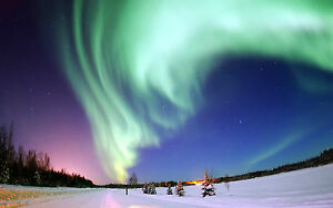 Framed Print - The Northern Lights Iceland (Aurora Borealis Atmosphere Picture)