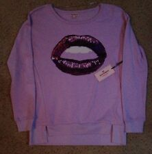NWT Juicy Couture Sequin Lips Terry Shirt Size Small