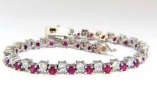 Echte Diamanten-Armbänder aus Weißgold Rubin