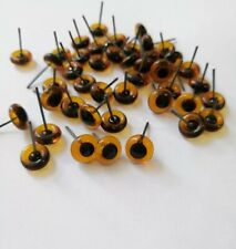 Brown  glass  eyes, 5 pairs, great for taxidermy, , needle felting, toy making