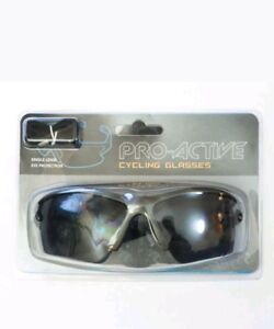 Pro-Active Cycling Glasses Cyclists Running - Smoke Lens