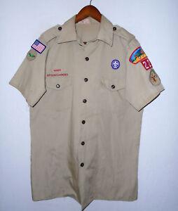 BOY SCOUTS Of America Uniform Shirt BSA #226 Scout Vtg USA Adult Mens Medium MD