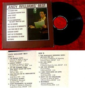 LP Andy Williams Best