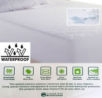 WATERPROOF BREATHABLE QUILTED MATTRESS PROTECTOR, COT BED TO SUPER KING SIZE