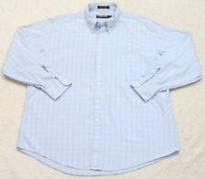 Kirkland Pocket Dress Shirt Button Up Blue Top XL Extra Large 17.5 34 Cotton