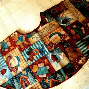 Christmas Tree Skirt Patchwork Tapestry Fabric Christmas Dreams 50 Inch Diameter