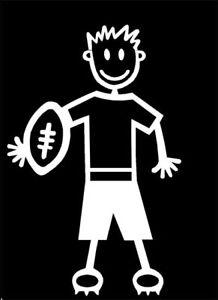 MY STICK FIGURE FAMILY Car Window Stickers TM5 Teen Boy Rugby