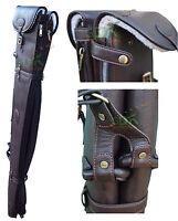 DOUBLE PU LEATHER SHOTGUN SLIP WITH ZIP, DETACHABLE, GUN SLIP,CASE,2 GUNS 188-06