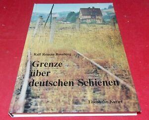 Grenze über deutschen Schienen