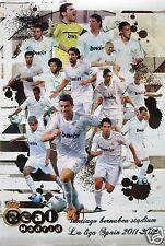 "REAL MADRID FC ""SOCCER 2011-12 LA LIGA, SPAIN"" FOOTBALL POSTER-Ronaldo,Kaka,Xabi"