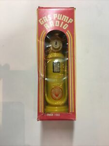 Vintage 1985 Shell Gas Pump Radio Collectible - New in Box