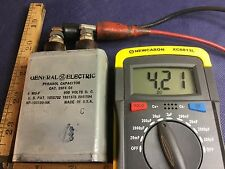 WW2 GENERAL ELECTRIC Pyranol CAPACITOR 4MF 600VDC Cat. 23f4 G4