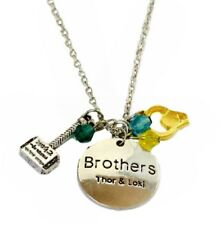 Metal Pendant Necklace With Charms Marvel Brothers Thor and Loki