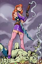 Daphne zombie scooby doo horror comic sexy art signed 11x17 print Rod Jacobsen