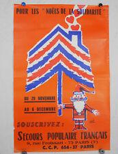 ancienne affiche secours populaire hervé morvan n°15