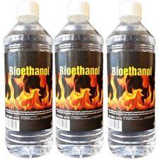 3 x 1 L, BIOETHANOL für Deko-Kamin Ethanol, Bio Ethanolkamin & Feuerstellen