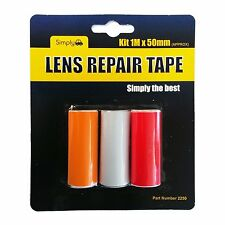 Car Auto Lens TAPE Repair Broken Cracked Rear Front Lights Red Clear Orange