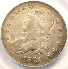 1824/1 Capped Bust Half Dollar 50C O-101a - ANACS VF30 Details - Rare Overdate