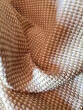 Golden Tan Ivory Cream Woven Plush Chenille Home Decor Remnant Fabric