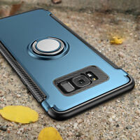 For Samsung S9 S10 Plus S8 Note 9 Shockproof Hybrid Ring Hard Armor Case Cover