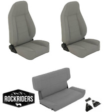 1997-2006 Jeep Wrangler TJ LJ Reclining Front and Rear Seat Combo Kit Gray