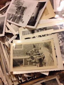 200 Old Photos Lot BW Vintage Photographs Snapshots Black White antique