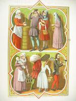 Belgien Xive Gens des Volkes Ferdinand Sere Wein- Litho XIX 1858 Hangard
