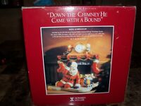 1998 Howard Miller (Down The Chimney He Came With A Bound) Christmas Clock