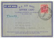 1949 Gisborne New Zealand Gospel Mission Van Air Letter cover 6d solo to Kansas