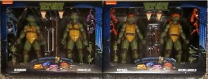 NECA TMNT-LEONARDO & DONATELLO, RAPHAEL & MICHELANGELO, WALMART EXCLUSIVES (NEW)