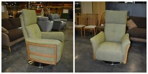 Ercol 3320CM Ginosa  Recliner Fabric Green  P220 FREE DELIVERY