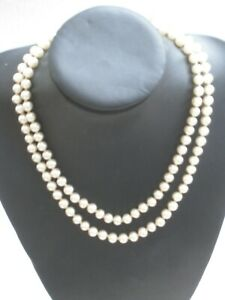 Long string of classic pearls