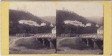 Autriche Baden Stéréo Vintage albumine ca 1865