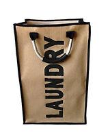 Folding Laundry Bag Bin Basket Handle Washing Clothes Storage Bag Hamper Bags Uk