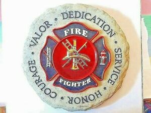 FIREFIGHTER MALTESE CROSS Wall Plaque -Valor, Dedication, Courage, Honor,Service