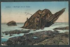 CHILE 1911 Iquique shipwreck Ed. Edw. E. Muecke missing stamps