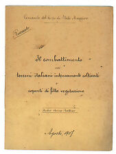 COMBATTIMENTO TERRENI ITALIANI INTENSAMENTE COLTIVATI E COPERTI VEGETAZIONE 1907