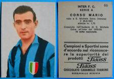 FIGURINA CARTONATA CALCIO FIDASS INTER 1965/66 - CORSO N. 66