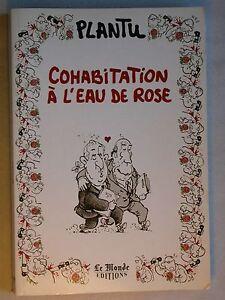 Plantu - Cohabitation à l'eau de rose - Mitterrand Socialisme Humour Caricature
