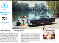 1959 Mercedes Benz 220 Sedan Sales Brochure Sheet