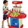 Portable Electronic Children Kids Kitchen Cooking Boy Toy Cooker Set Light Sound