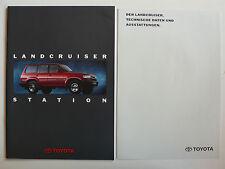 Prospekt Toyota Land Cruiser Station/Special HJ 80, 11.1992, 24 S. + Datenblatt