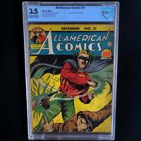 ALL-AMERICAN COMICS #21 (DC 1940) 💥 CBCS 3.5 C-OW 💥 2ND APP OF RED TORNADO!