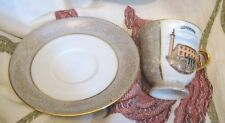 Lovely souvenir ware cup and saucer Goteborg Sjofartsmusbet small size