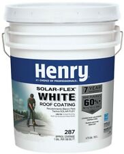 Roof Coating Henry 4.75 Gal. White Cool RV Flat Metal Solar-Flex Mobile Home